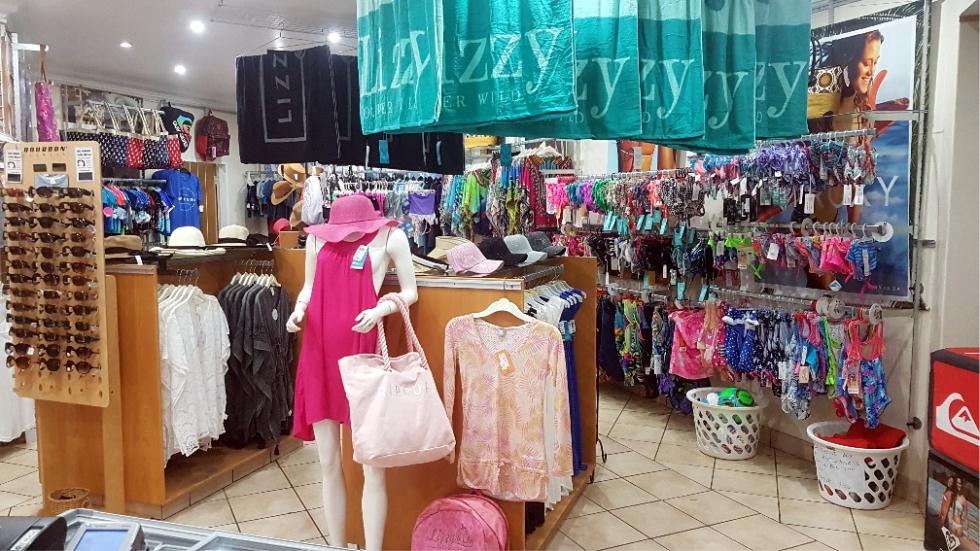 Interior of the Beach Shop at Sun City Waterworld